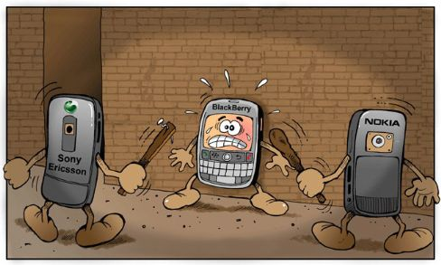 Sony Ericsson and Nokia vs BlackBerry Image