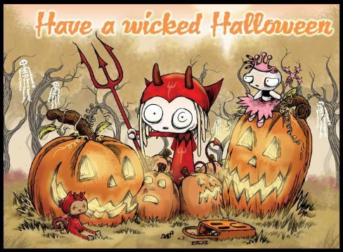 Wicked Halloween Greetings Image
